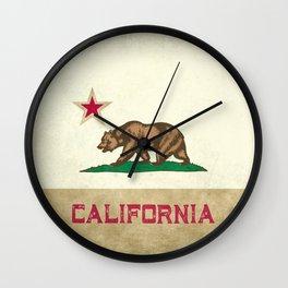 Vintage California Flag Wall Clock