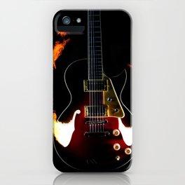 Burning Rock Guitar iPhone Case