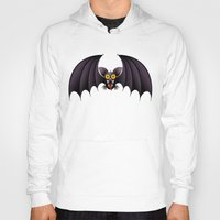 cartoon Hoodies featuring Bat Cartoon by BluedarkArt