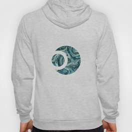 Magic Marble Gemstone Turquoise Teal Hoody