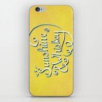 whiskey iPhone & iPod Skins featuring Sunshine & Whiskey by Yellow 13