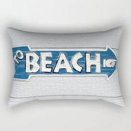 To Beach Rectangular Pillow