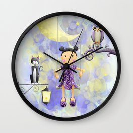On the moon. Wall Clock