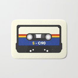 Black Cassette #2 Bath Mat