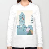 sleep Long Sleeve T-shirts featuring Sleep by Loezelot