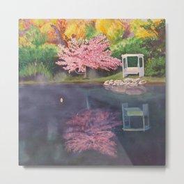 Spring Reflecion Metal Print