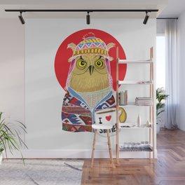 Summer Owl Wall Mural