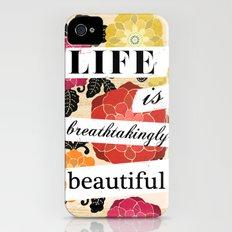 Life is Breathtakingly Beautiful Slim Case iPhone (4, 4s)