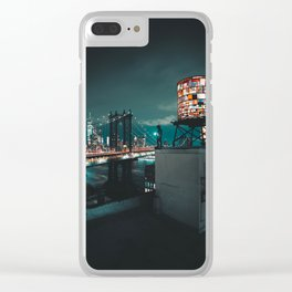 The Water Tower New York City (Color) Clear iPhone Case