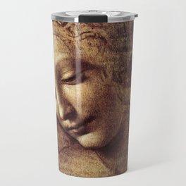 Leonardo Da Vinci - Head of a young woman with tousled hair or, Leda Travel Mug