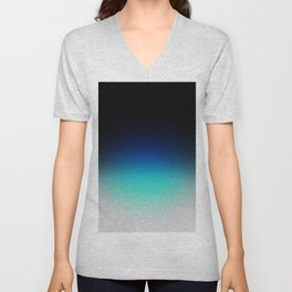 Blue Gray Black Ombre Unisex V-Neck