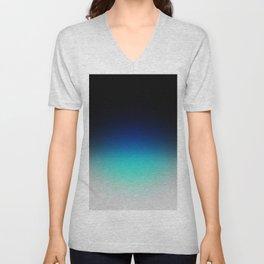 Blue Gray Black Ombre Unisex V-Neck