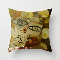 philadelphia Throw Pillows featuring Philadelphia by dormiveglia
