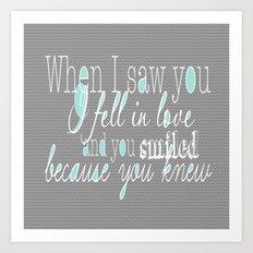 When I Saw You (Mint) Art Print