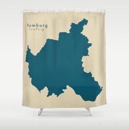 Modern Map - Hamburg DE Shower Curtain