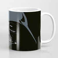 darth vader Mugs featuring Darth Vader by qualitypunk