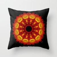 phoenix Throw Pillows featuring Phoenix by Mr. Pattern Man