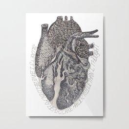 'Secrets I Have Held In My Heart' Metal Print