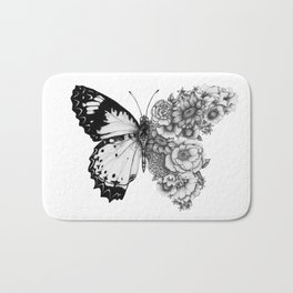Butterfly in Bloom Bath Mat