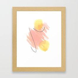 Yellow balls Framed Art Print