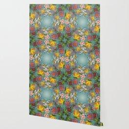 Encircled Garden (Light Teal) Wallpaper