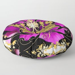 My Empire Collection Summer Set purple Flowers Crown Floor Pillow