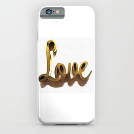 The Depth of Love In Golden Color iPhone Case