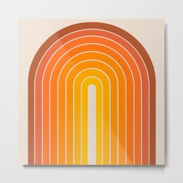Gradient Arch - Vintage Orange Metal Print