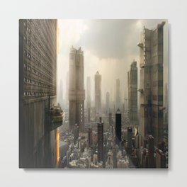 Dredd Megacity ONE Peach Trees Metal Print