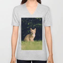 One Eyed Cat Unisex V-Neck