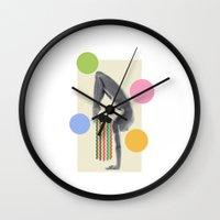 yoga Wall Clocks featuring Yoga by Lerson