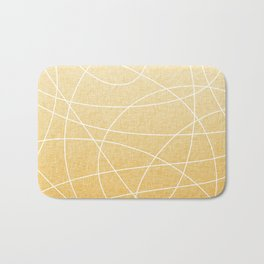 Scribble Linen - Sunflower Yellow Bath Mat