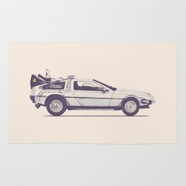 Famous Car #2 - Delorean Rug