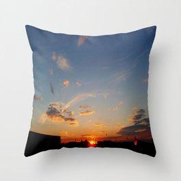 Sunset at Santa Pod Throw Pillow