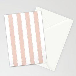 PALE DOGWOOD STRIPES Stationery Cards