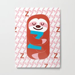 The Slothful One Metal Print