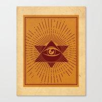 third eye Canvas Prints featuring Third Eye by Stranger Designs