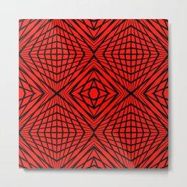 geometric, black on red Metal Print