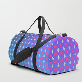 Purple Ombre Hexagon Grid Duffle Bag