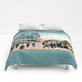 Pier Gates Llandudno Wales 1890 Comforters