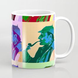 Sherlock Holmes Pop Art Coffee Mug