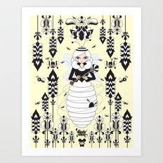 Lady Honey Art Print