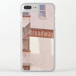 Spring Street and Broadway Clear iPhone Case
