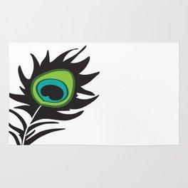Teal Peacock Rug