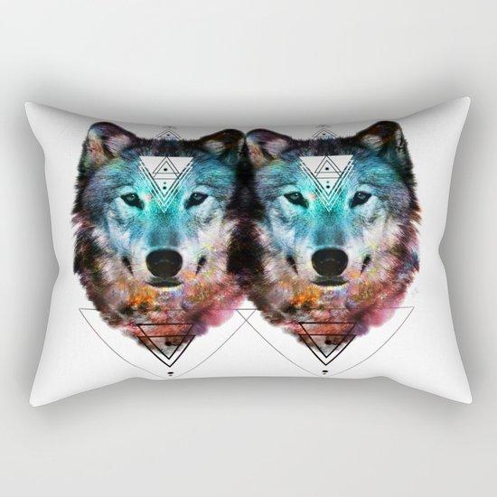 Sacred Wolf Rectangular Pillow