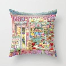 The Little Cake Shop Throw Pillow
