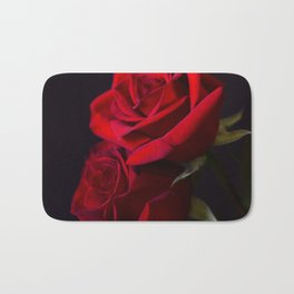Two Red Roses in Camelot Bath Mat