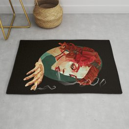 """Smoking Princess"" Rug"