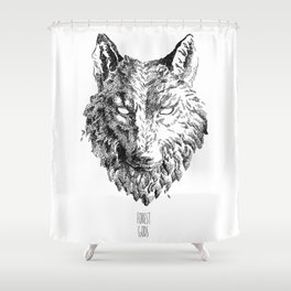 Forest Gods | Wolf Shower Curtain