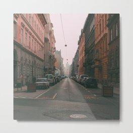 Budapest Street Metal Print